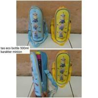 Jual tas eco bottle 500ml karakter minion Murah