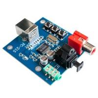 HIFI PCM2704 USB DAC to S/PDIF Sound Card Decoder Board Module Analog