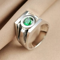 Cincin Superhero Green Lantern Rings Band Real 925 Sterling Silver