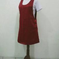 Overall dress pendek + Kaos pendek - muat S/M