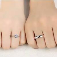 cincin berlian couple untuk tunangan/pernikahan