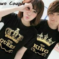 baju couple model mahkota king/queen