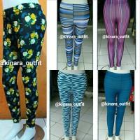 legging motif-motif ukuran allsize atau jumbo/celana panjang/rok gamis