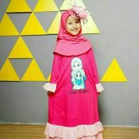 (2-9 tahun) Gamis Kaos Anak Raggakids RG 09 I Love Ummi Stripe XS-L
