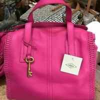 fossil emma hot pink