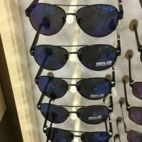 Kacamata Fossil aviator blue