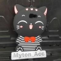 Case 4D Cat Costum Samsung J7 Prime / ON 7 /Karakter/Soft/Silicon/3D