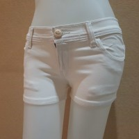 celana hot pants pendek size 27 28 29 30 jeans putih strech