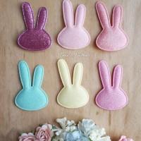 Aplikasi Pastel Glitter Rabbit Rp12.800,-/set (isi 6 warna sesuai foto
