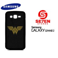 Casing HP Samsung Grand 2 wonder woman logo 1 Custom Hardcase