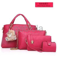 SANDRA Tas Wanita Import Korea Jepang 4 in 1 Handbags Bag Dompet Bea