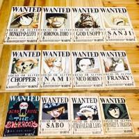 Poster Buronan Wanted Bounty Mugiwara One piece