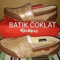 Jual Sepatu Kickers wanita Batik / Sepatu Kickers Slip On Murah