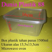 Isi 50PC 1500ML kotak tempat box wadah plastik makan nasi food packing