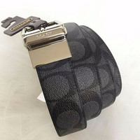 EXCLUSIVE JUAL BELT COACH MEN CUT TO SIZE REVERSIBLE SIGN BLACK ORIGIN
