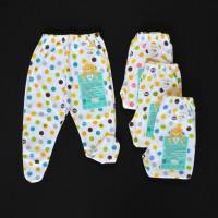 LIBBY 4 Pcs Celana Panjang Tutup Kaki Bayi/Baby Polkadot (3-6M)