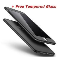 Jual Hardcase Full Case 360 iPhone 5/6/6Plus/7/7Plus FREE TEMPERED GLASS Murah