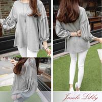 Jumbo Blouse Bigsize Baju Atasan Wanita Fashion Lengan Balon gh1195
