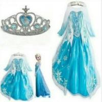 Kostum Elsa Frozen Import Anak New