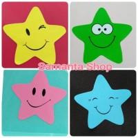 Sticker reward - stiker happy star bintang emo smiley guru murid anak