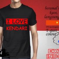 Kaos desain EXPLORE KOTA SULAWESI i love kendari SWI 14