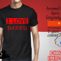 Kaos desain EXPLORE KOTA SULAWESI i love barru SWI 02