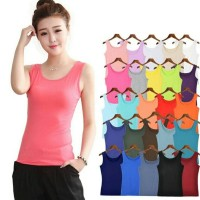 Tank top women cotton - tank top wanita tali besar -