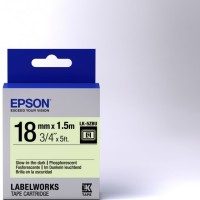 Epson label 18mm Glow in the dark labelworks tape cartridge LK-5ZBU