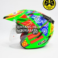 Helm GM Startech Rossi 5 Elements Green Superfluo