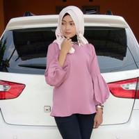 Jual Atasan Wanita Pop Up Blouse Tunik Baju Muslim Blus Muslim Murah