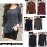 Jual Tunik Baju Wanita Atasan Sabrina Twist PRC38 Murah