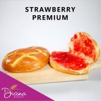 Roti Strawberry PREMIUM | roti manis | kue | camilan | stroberi