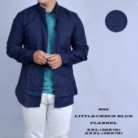 Jual Produk Kemeja flanel hoodie kemeja flannel biru big size Tebaru Murah