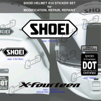 Sticker Set Helm Shoei X14 untuk repair, repaint, modif INK, KYT, ARAI