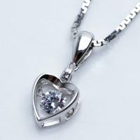 Kalung Perak EMAS PUTIH ASLI KOREA - WG 375 (Garansi 6 bulan) B