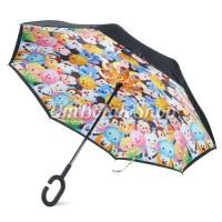 Jual promo payung cantik  Payung Terbalik TSUM TSUM DISNEY - Anak Reverse Murah
