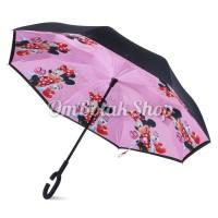 Jual promo payung cantik  Payung Terbalik MINNIE MOUSE Anak Reverse Murah