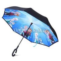 Jual promo payung cantik  Payung Terbalik FROZEN Anak Reverse Inverted Murah