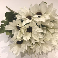 bunga plastik shabbychic bunga artificial bunga krisan melati putih