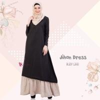 Gamis Valisha Jihan Dress Black Latte - baju gamis wanita busana