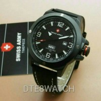 Jam Tangan Pria Original Swiss Army LIMITED Leather 1 Year Guaranted