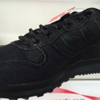 sepatu casual piero jogger black denim allblack original 100% new 2016