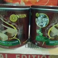 wafer nissin cokelat kaleng - waffer nissin cokelat 330gr MURAH