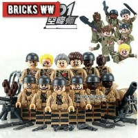 Jual MINIFIGUREs Army ZOMBIE D903 world war soldier Minifigure Walking Dead Murah