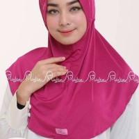 Jilbab Instan TERLARIS Jilbab Bergo Plain Laura Miulan warna frambose