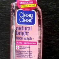 Jual Clean and Clear Natural Bright Face Wash Murah