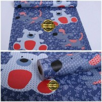 Walpaper Sticker Dinding Warna Biru Gambar Doggy (Glory 006)