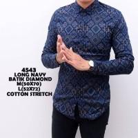 Jual Kemeja Batik Pria Panjang Slimfit Katun / Baju Batik Murah