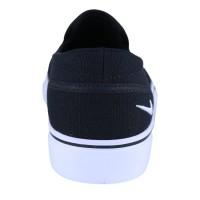 Branded Nike Womens Toki Slip Canvas Sepatu Sneakers - Black/Wh