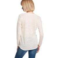 Branded Esprit Fine Knit Jumper With Linen - Off White